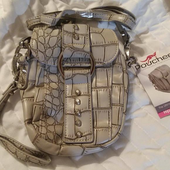 pouchee Handbags - Pouchee charcoal grey hipster bag